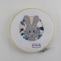 Stickdatei Hase Button